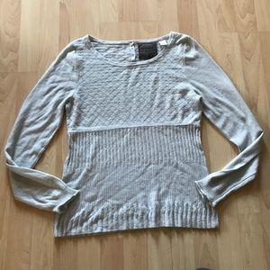 Anthropologie Guinevere Light Gray Sweater